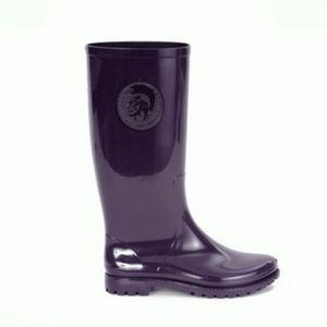 Diesel Purple Tall Wellington Rubber Rain Boots